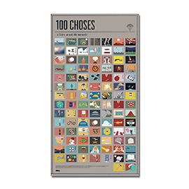 """Poster """"100 choses à faire"""", FLEUX, 28,90€"""